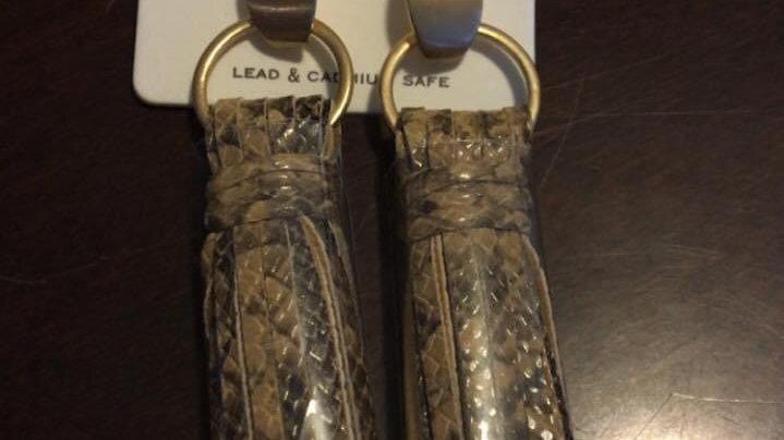 Snakeskin leather tassel