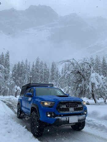 Yosemite winter camping