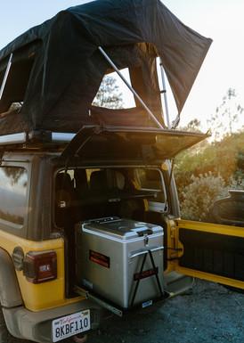 Jeep camper kitchen