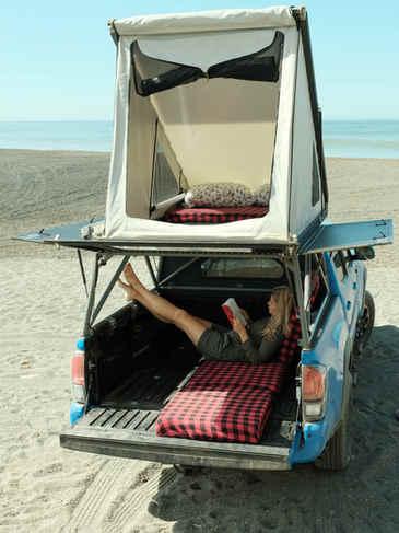 Toyota camper rental on the beach