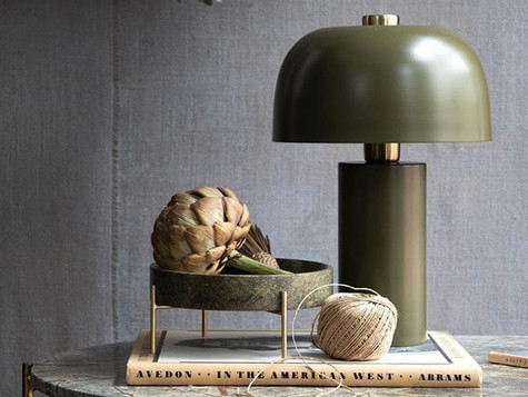 Lulu lamp and Steffi platter by Cozy Living