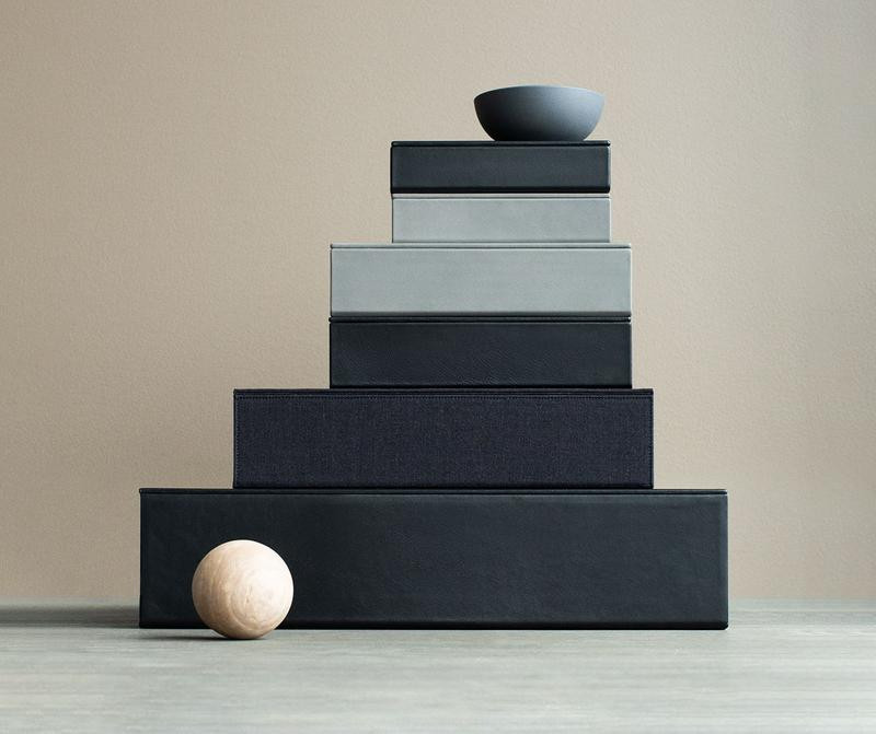Leather boxes by August Sandberg