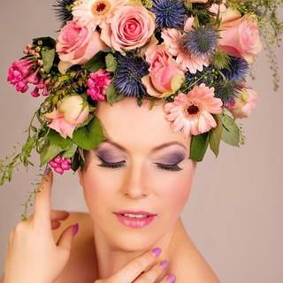Fotoshooting, Make-up, Blumen, Foto Make