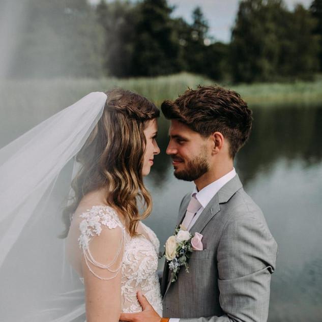 Hochzeitspaar, Fotoshooting, Brautstyling
