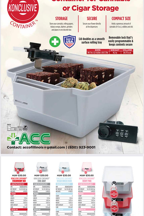 Lockable Container for Cannabis or Cigar Storage
