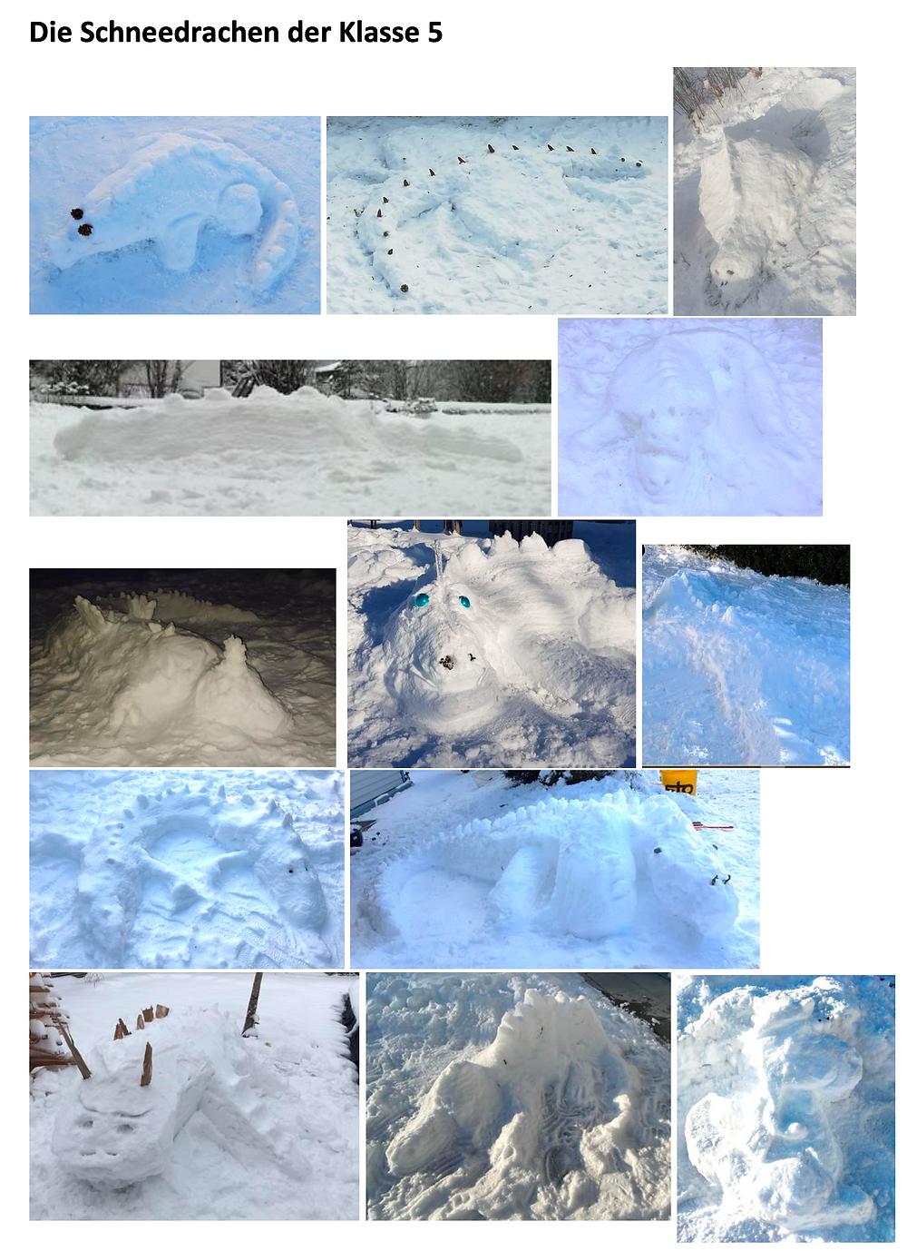 Beispiele der Schneedrachen