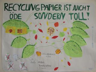 Recyclingpapier ist nicht öde- sondern toll!