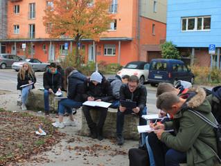 Klasse 10 auf Exkursion nach Tübingen im Fach Geographie
