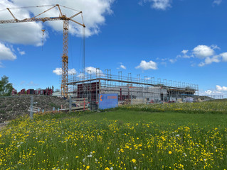 Neues Schulgebäude: Baufortschritt