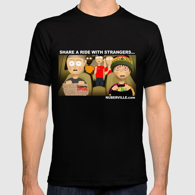 Male - Rider With Strangers T-shirt