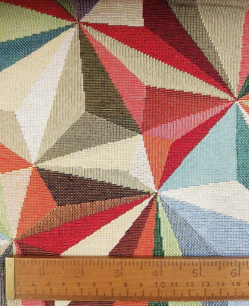 Tapestry Canvas Cotton In A Woven Harlequin Print