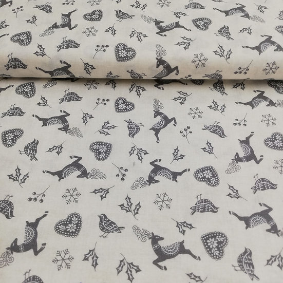 MAKOWER - SKANDI STAG - GREY - COTTON - FQ