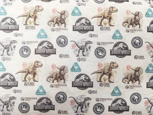 Jurassic World Badge Cotton Fabric