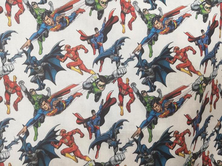 Justice League Hero Print Cotton Fabric