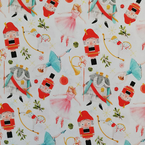 The Nutcracker Digital Print Cotton Fabric