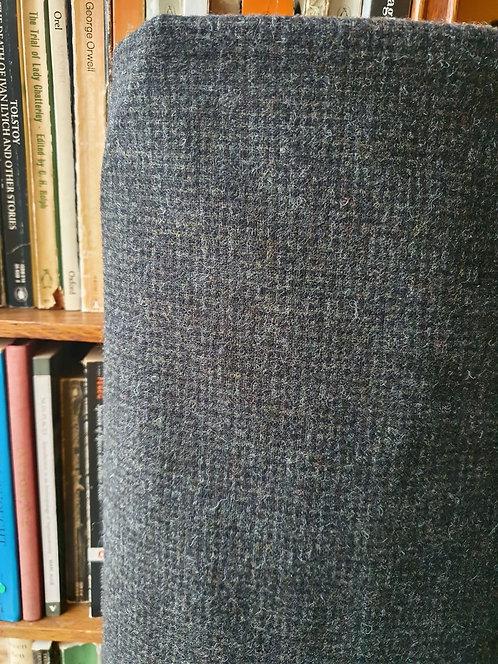 Charcoal Wool Check Fabric