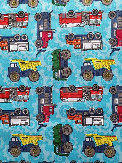 Tonka Trucks Printed Onto Cotton Fabric