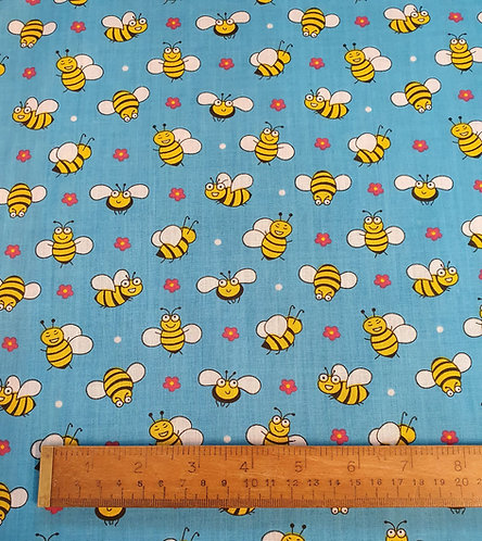 Polycotton Print Fabric With Bees