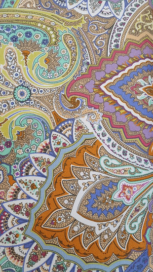 Paisley Print Canvas Fabric