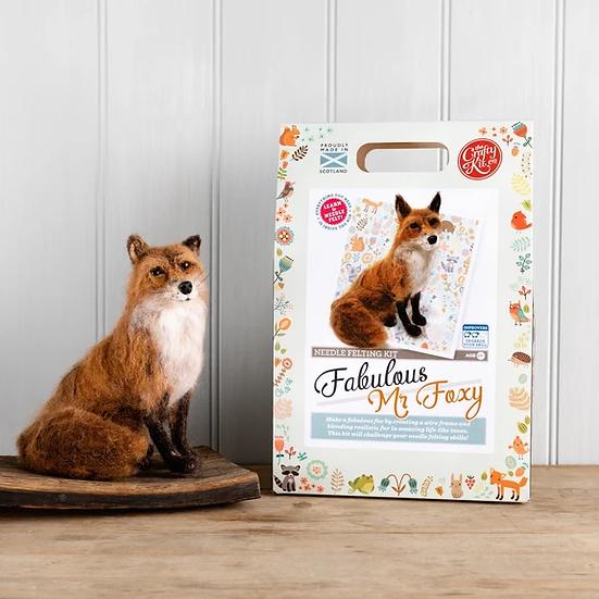 The Crafty Kit Company Fabulous Mr Foxy Needle Felting Kit