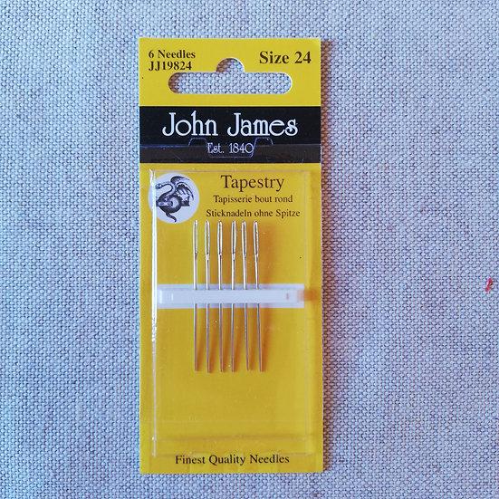 JOHN JAMES TAPESTRY NEEDLES SIZE 24