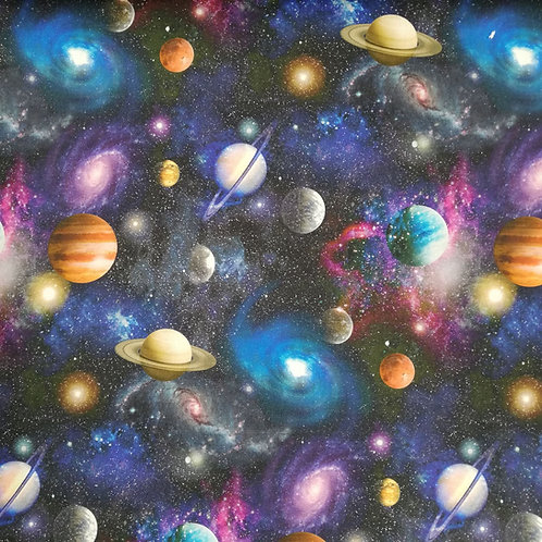 The Universe Printed Onto Cotton Fabric