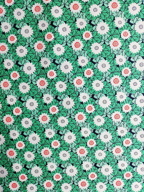 Kyoto Collection Of Printed Cotton Fabric With Lily Pads