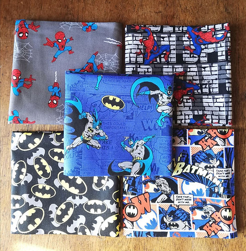 Batman And Superman Printed Cotton Fabric