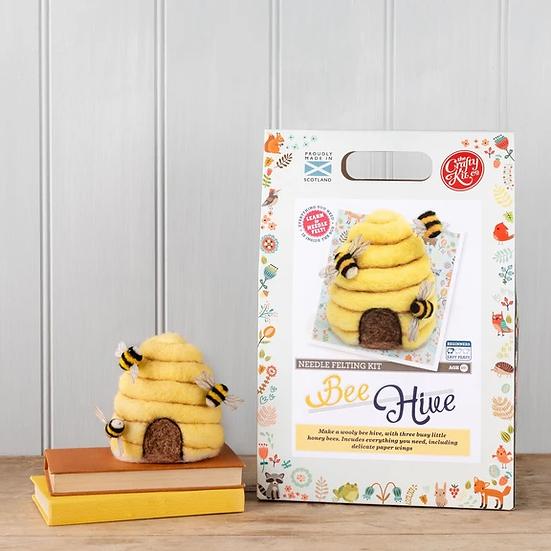 The Crafty Kit Company Bee Hive Needle Felting Kit