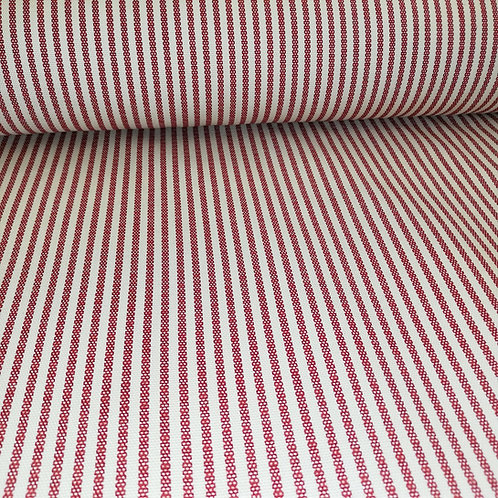 Red Stripe Cotton Duck Fabric