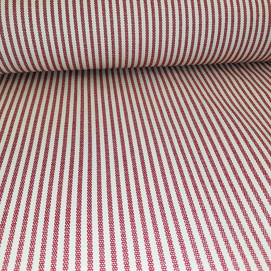 Red Stripe Cotton Duck Fabric