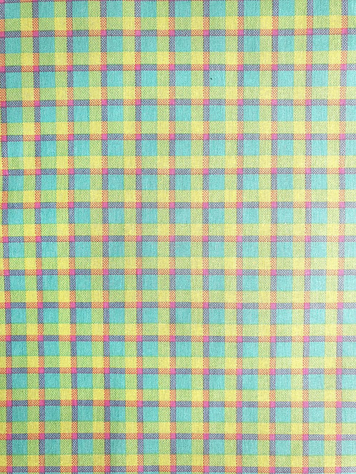 Gingham Print From Easter Friends Cotton Fabric Collection