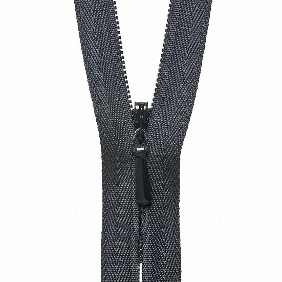 Black Concealed Zip