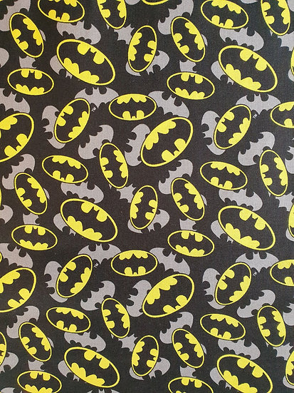 Batman Logo Printed On To Cotton Fabric