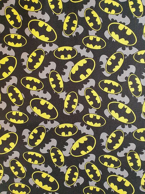 Batman Logo Printed On To Cotton Fabric