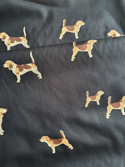 Beagles Printed Onto Cotton Fabric