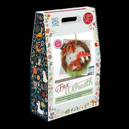 The Crafty Kit Company Fox Wreath Needle Felting Kit