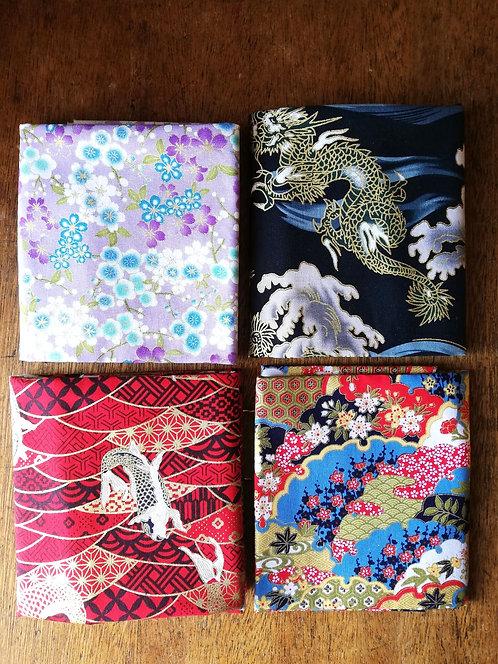 Japanese Metallic Gold Print Cotton Fabrics