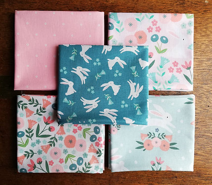 Spring Bunny Quilting Cotton Collection