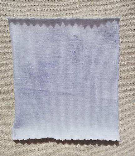 White Cotton Spandex Jersey