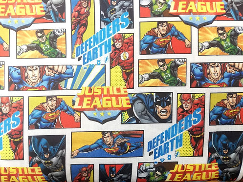 Justice League Defenders Of Earth Cotton Fabric