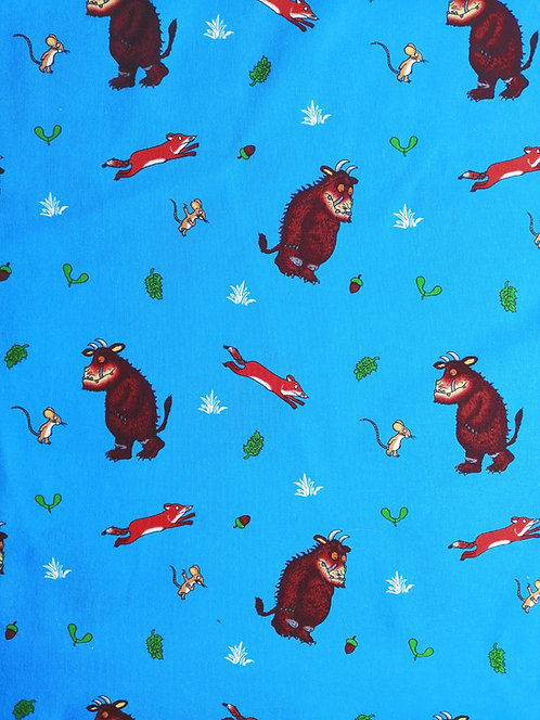 Kyoto Collection Of Printed Cotton Fabric With Fox And Mouse Print