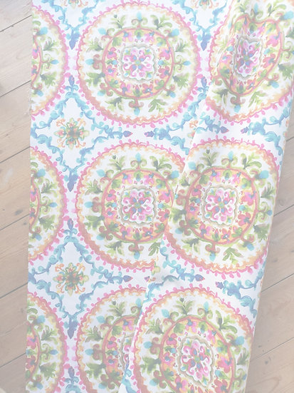 MOROCCAN FLOWERS HEAVY WEIGHT HOME DECOR COTTON MIX