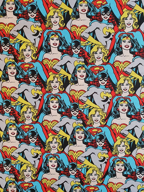 DC Comic Heroines Printed On To Cotton Fabric
