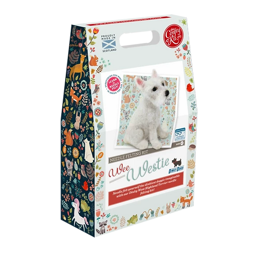 The Crafty Kit Company Needle Felting Wee Westie Kit
