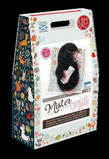 The Crafty Kit Company Mr Mole Needle Felting Kit