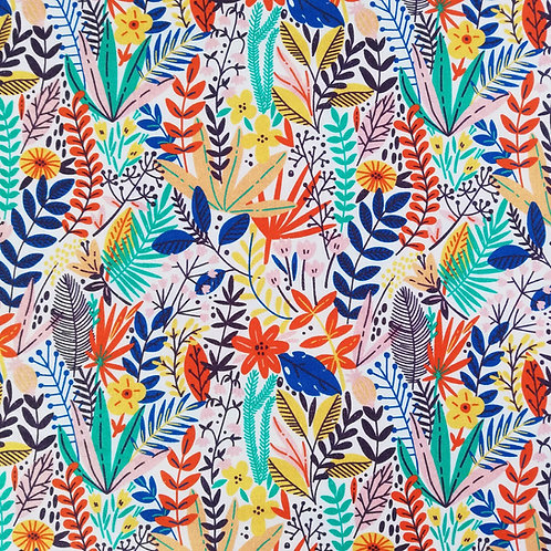 Bright Floral Digital Print On Cotton Fabric