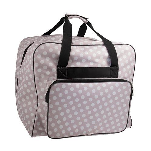 Grey Pea Spot Overlocker Bag