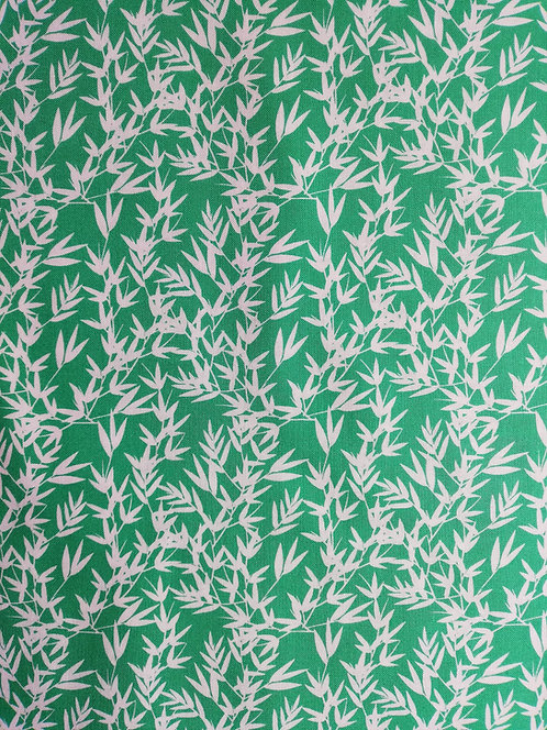 Kyoto Collection Of Printed Cotton Fabric With Bamboo Leaves