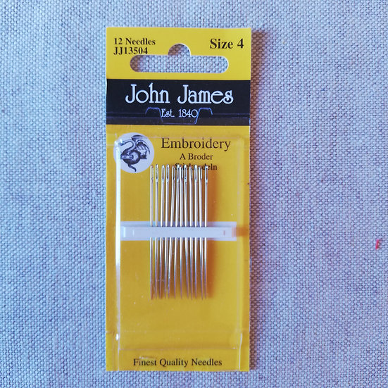 John James Embroidery Needles Size 4